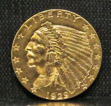 1929 Gold $2 1/2 Quarter Eagle Indian Head BU
