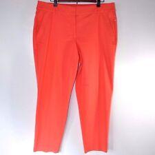 Lane Bryant Dress Pants The Modernist Collection Ankle Crop Coral Orange Sz 20 W