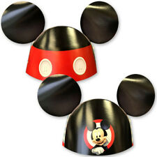 MICKEY MOUSE On the Go PARTY HATS (8) ~ Birthday Supplies Paper Favors Disney