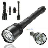 6000 Lumens 3x CREE XM-L T6 LED 18650 Flashlight Torch Lamp Light MT