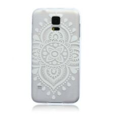 Paisley Pattern Ultra Slim Transparent Soft Gel Case Cover For Samsung Galaxy S5