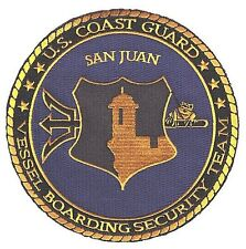 San Juan Puerto Rico Vessel Boarding Security Team 60 W9709 Coast Guard patch