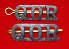 Queen's Own Rifles (QOR) CANADA Shoulder Title Badges