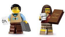 LEGO Minifigures - Series 7 Computer Programmer + Series 10 Librarian  -  New