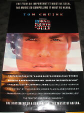 Born on the 4th of July Movie Poster rolled - Sound track Tom Cruise Vietnam Vet