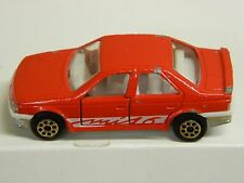 Vintage Majorette #218 PEUGEOT 405 MI 16 Loose RED Nice Condition Check pics: