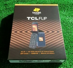 """TCL Flip Boost Mobile 4G LTE 2.8"""" 2MP 4GB Prepaid Phone Brand New Factory Sealed"""