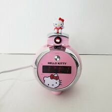 Hello Kitty Home Sounds Pink/Silver AM/FM Projection Radio w/ Digital Clock