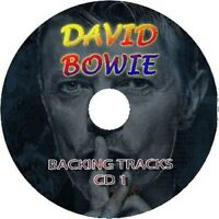 DAVID BOWIE GUITAR BACKING TRACKS 2x AUDIO CD SET BEST GREATEST HITS ROCK MUSIC