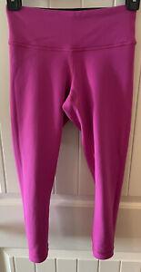 "Lululemon Pink and Black Capri Length 21"" Reversible Leggings size 2"