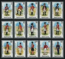 St. Lucia 1985 - Mi-Nr. 748-762 I ** - MNH - Uniformen / Uniforms (I)