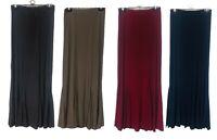 New Ladies Mermaid Flared Stretch Long Maxi Skirt Gypsy Muslim 12 14 16 18 20 22