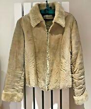 KAILKO Jacket 100% Suede - Faux Fur Beige Softwear UK12 EUR40