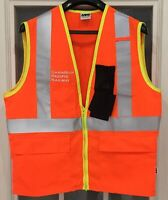 Canadian Pacific Railway Running Trades High Visibility Vest Cdr.Egr. Size Small