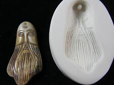 Long Bearded Man Face Polymer Clay Mold (#MD1471)
