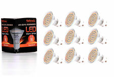 9X GU10 LED Lampe von Seitronic mit 3,5 Watt, 300LM und 60 LEDs Warm weiß 2900K