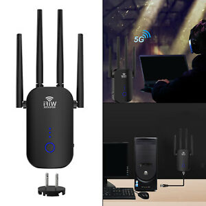 1200Mbps Long Range WiFi Extender Repeater Videosignalanzeige