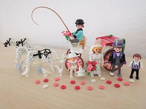 Playmobil 5601 Hochzeitskutsche + Anleitung Victorian Rosa Serie Vintage Klicky