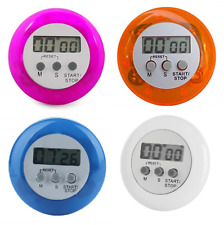 4 Digital Kitchen Timers Magnetic Clip Restaurant Count Down Stopwatch Egg Time