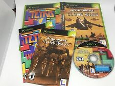 Star Wars Clone Wars / Tetris Worlds Combo Pack For Xbox Original Both Manuals