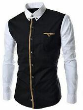 black and white cotton shirt -L