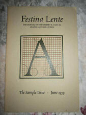 Festina Lente Graphic Arts Fine Printing Rochester Institute Technology Students