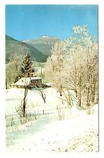 Camel's Hump Mountain Postcard Vermont Hills Towering Crest Winter Home Vintage