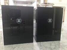 SET OF 2 CHANEL MAKEUP COSMETIC DUST BIN VASE LIMITED VIP COLLECTIBLE