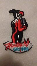 DC Comics Embroidered Harley Quinn w/ Gun Iron On Patch