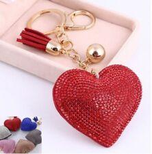 + portachiavi cuore in strass ed eco pelle amore san valentino