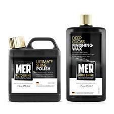 Mer Ultimate Shine Car Polish + Deep Gloss Finishing Wax Twin Set 500ml