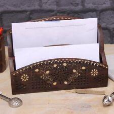 Madira Portacartas de madera con incrustaciones latón SISU 2 compartimientos
