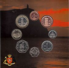 ISLE OF MAN - RARE 8 DIF BU COINS SET 1 PENNY - 2 POUNDS 2010 YEAR MINT PACKAGE
