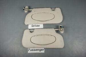 2007-2014 Mini Cooper Sun Visor Set Pair Covered Lighted Mirrors