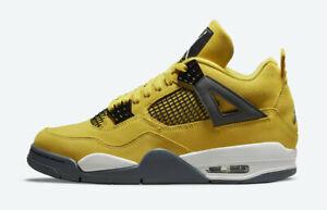 New Air Jordan 4 Retro Lightning (2021) Basketball Shoes Sz 11.5 CT8527-700 Rare