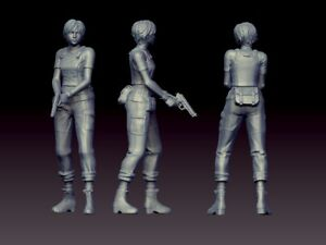 35 mm Rebecca Chambers Fanart Resident Evil Miniature for Zombicide|DnD|D&D