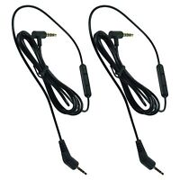 2-Pack 3.5mm Mic Audio Cable For Bose QuietComfort 3 QC 3 Headphones Replacement