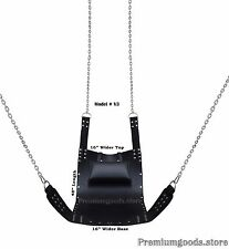 Black Leather Adult Sex Swing Sling V3