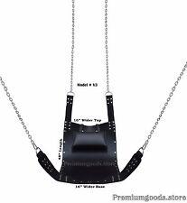 Black Leather Adult Sex Swing Sling V3