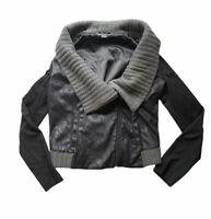 Armani Exchange Women's Black and Gray Wool Jacket Size L