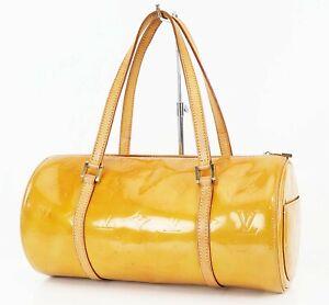 Authentic LOUIS VUITTON Bedford Beige Vernis Leather Hand Bag Purse #38728