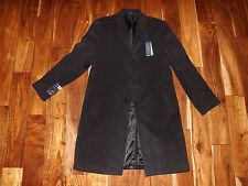 NWT Mens HATHAWAY PLATINUM Wool & Cashmere Long Coat Heavy Charcoal Gray 44R