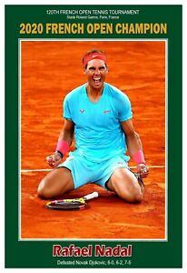 "Rafael Nadal 2020 French Open Champion 13""x19"" Commemorative Poster"