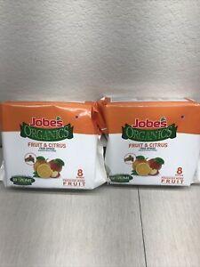 Jobe's  Organics Fruit & Citrus Fertilizer Spikes 2-PACK LOT OF 2