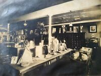 c.1905 Pocomoke City MD IH Merril Mens Fashion Store Interior Vtg Cabinet Photo