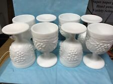 Eight Imperial Glass Goblets-Prime Condition-hk