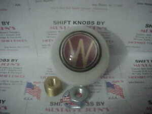 "WILLYS - OVERLAND  Custom 2""   Shift Knob, (Solid White #1)"