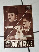 """Charlie Chaplin """"Die Chaplin Revue""""- FilmProgramm -50-60 er Jahre- ,org.-"""