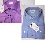NEW NWT Robert Graham Men's Lambert Regular Cuffs Shirt Choose Purple Blue 46