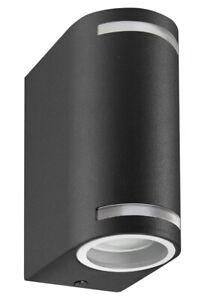 Modern Black Up Down Double Wall Light GU10 IP44 Outdoor Garden Light ZLC323